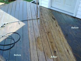 high pressure clean deck with wand