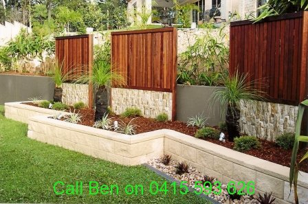 Eltham gardening service 3095 free quote call ben 0415 for Front yard garden designs australia